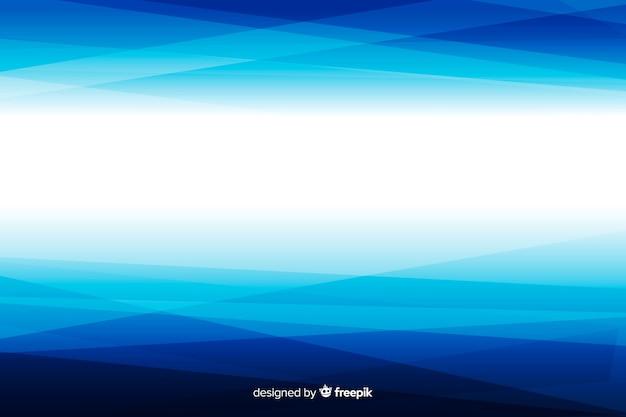 Gradiente geometrico bianco e blu astratto Vettore gratuito