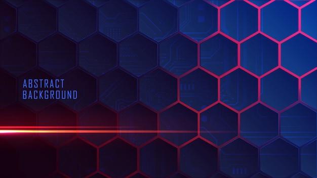 Gradiente incandescente dell'alveare isometrico Vettore Premium