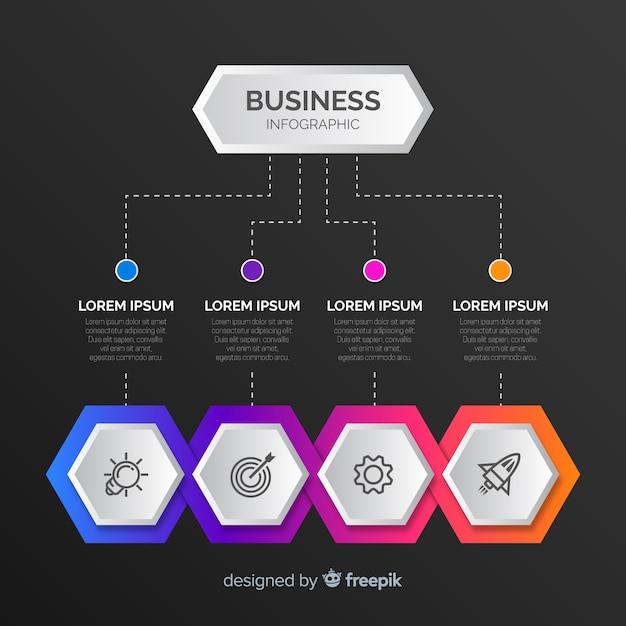 Gradiente infografica Vettore gratuito