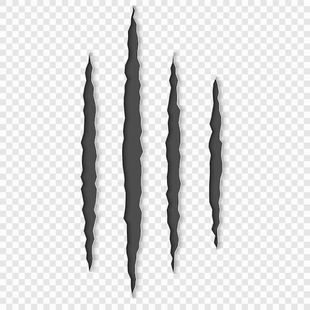 Graffi di artigli con le ombre Vettore Premium