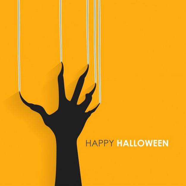 Graffiare segni mano sulla parete happy halloween Vettore gratuito