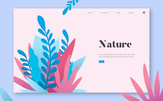 Grafica di sito web informativo di natura e piante Vettore gratuito