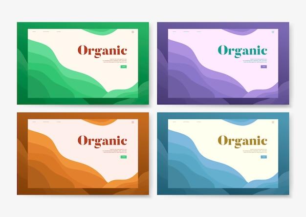 Grafica di sito web informativo piantagione organica Vettore gratuito