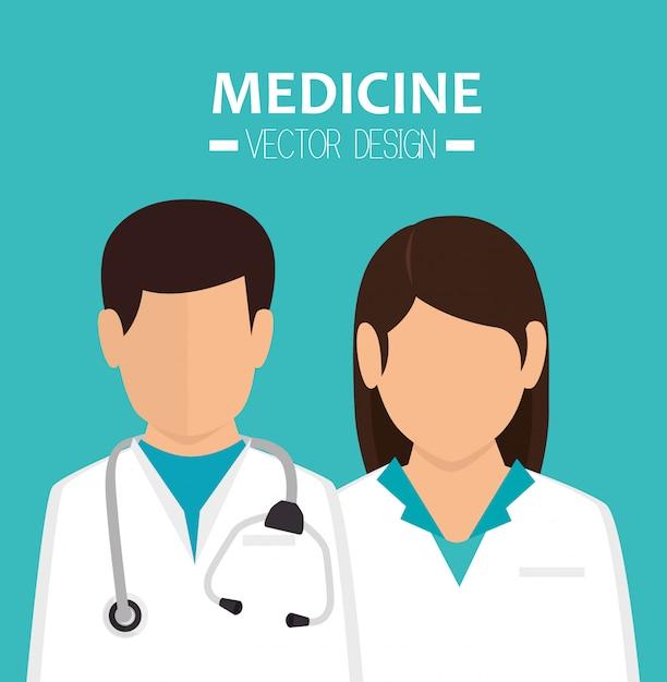 Grafica sanitaria medica Vettore Premium
