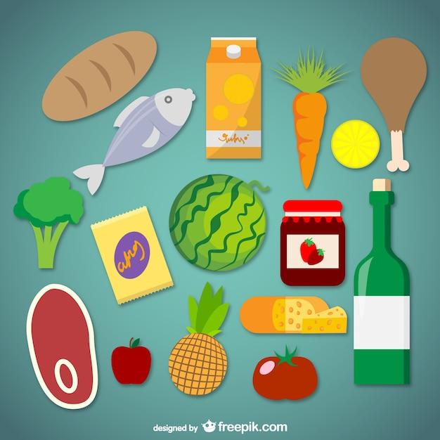 Grafica vettoriale supermercato alimentare Vettore gratuito