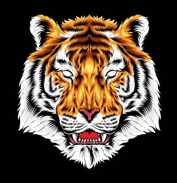 Grafica vettoriale tigre Vettore Premium