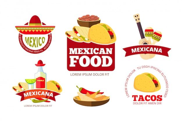 Grafica vintage ristorante messicano Vettore Premium