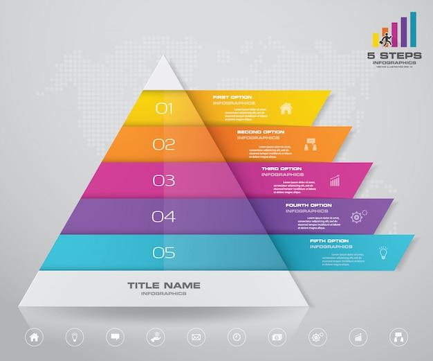 Grafico a piramide Vettore Premium