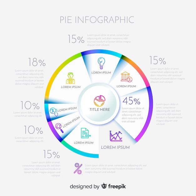 Grafico a torta infografica Vettore gratuito