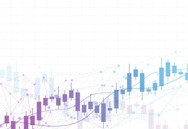Grafico del grafico del bastone della candela di affari dell'investimento del mercato azionario Vettore Premium