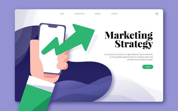 Grafico del sito web informativo della strategia di marketing Vettore gratuito