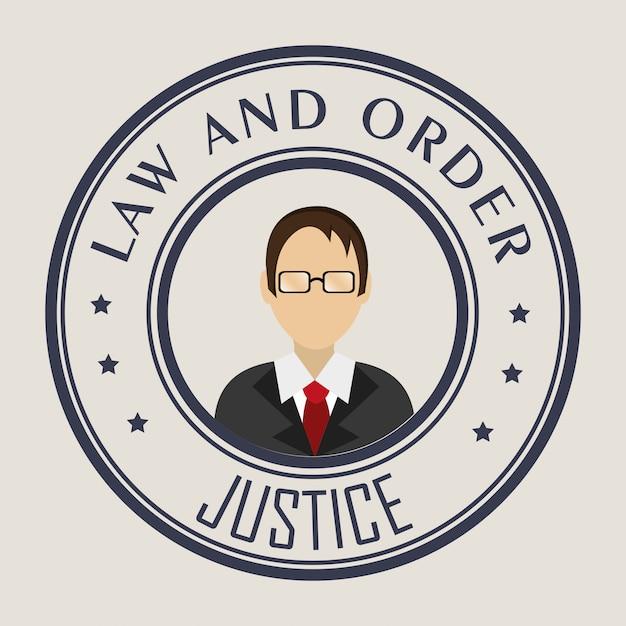Grafico della legge e della giustizia legale Vettore gratuito