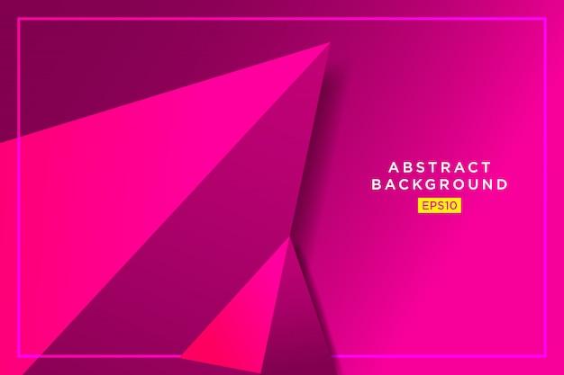 Grafico futuristico dei pantaloni a vita bassa astratti rosa dei triangoli 3d Vettore Premium