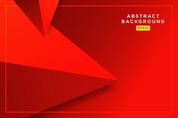 Grafico futuristico dei pantaloni a vita bassa astratti rossi 3d dei triangoli Vettore Premium