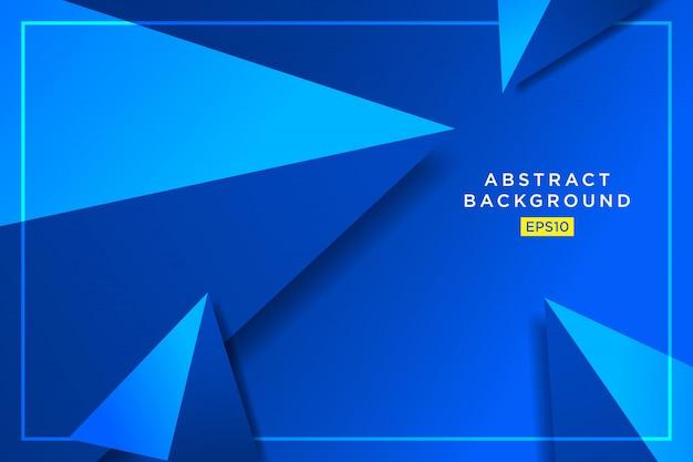 Grafico futuristico dei pantaloni a vita bassa blu astratti dei triangoli 3d Vettore Premium