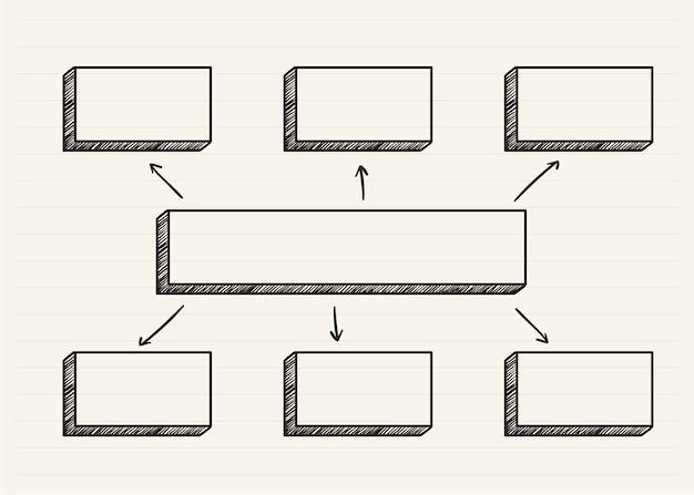 Grafico scarabocchiato su un blocco note Vettore gratuito