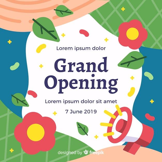 Grande apertura Vettore gratuito