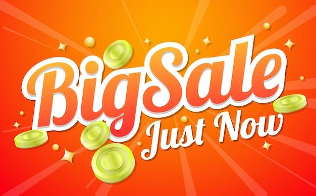 Grande banner di vendita di vendita vector sfondo Vettore gratuito