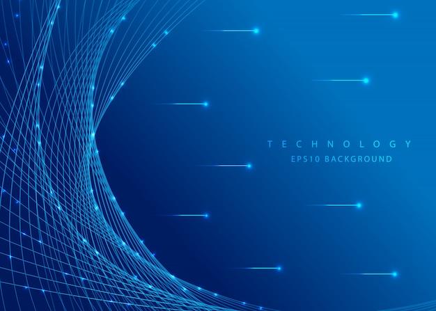 Grande vettore astratto del fondo di concetto di dati Vettore Premium