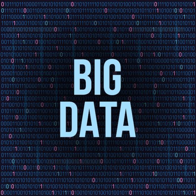 Grandi analisi dati di informazioni di base. Vettore Premium