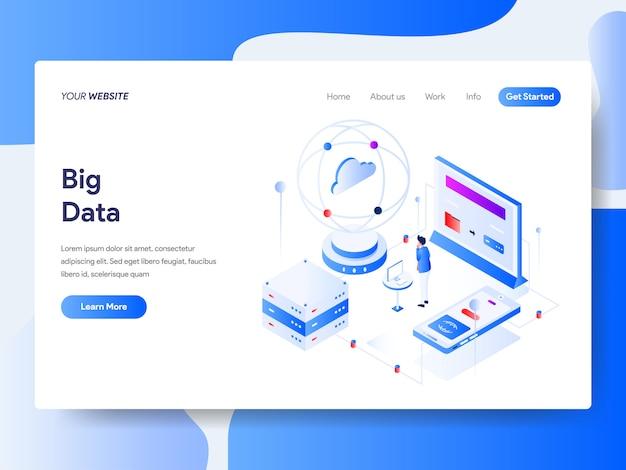Grandi dati isometrici per la pagina del sito Vettore Premium