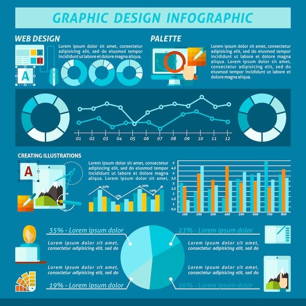 Graphic design infographics Vettore gratuito
