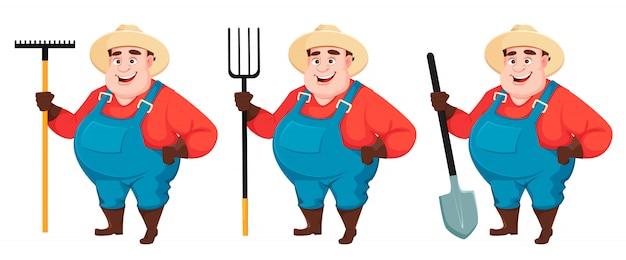 Grasso contadino, agronomo Vettore Premium