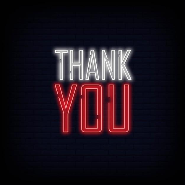 Grazie insegna al neon. poster di banner di luce. Vettore Premium