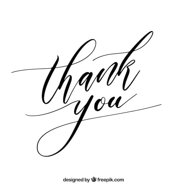 Grazie Sfondo Con Scritte Nere Scaricare Vettori Gratis