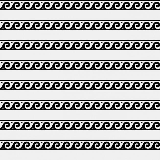 Greca onde ornament pattern Vettore gratuito