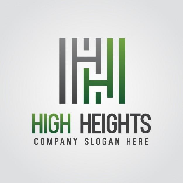 Green abstract lettera h logo Vettore gratuito