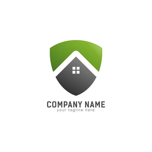 Green save home logo Vettore Premium