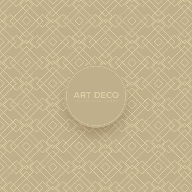 Griglia di sfondo senza cuciture art deco di lusso Vettore Premium