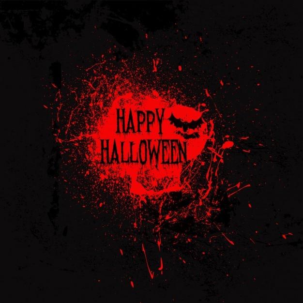 Grunge dettagliato sfondo di halloween con schizzi e macchie Vettore gratuito
