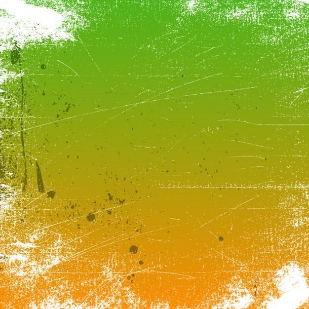 Grunge Sfondo Verde E Arancione Scaricare Vettori Gratis