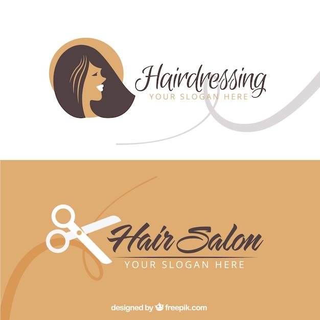 Hair salon business card Vettore gratuito