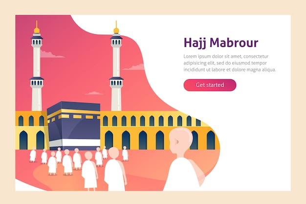 Hajj e umrah vector illustration Vettore Premium