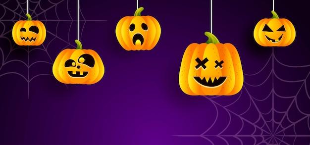 Halloween di sfondo Vettore Premium