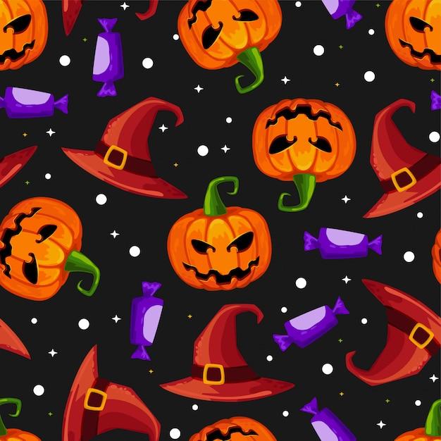 Halloween seamless Vettore Premium