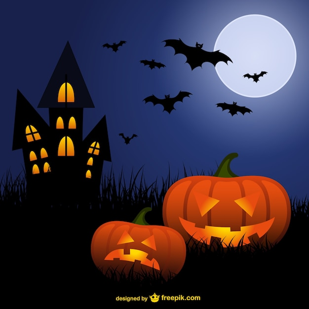 Halloween zucche e pipistrelli cartone animato scaricare