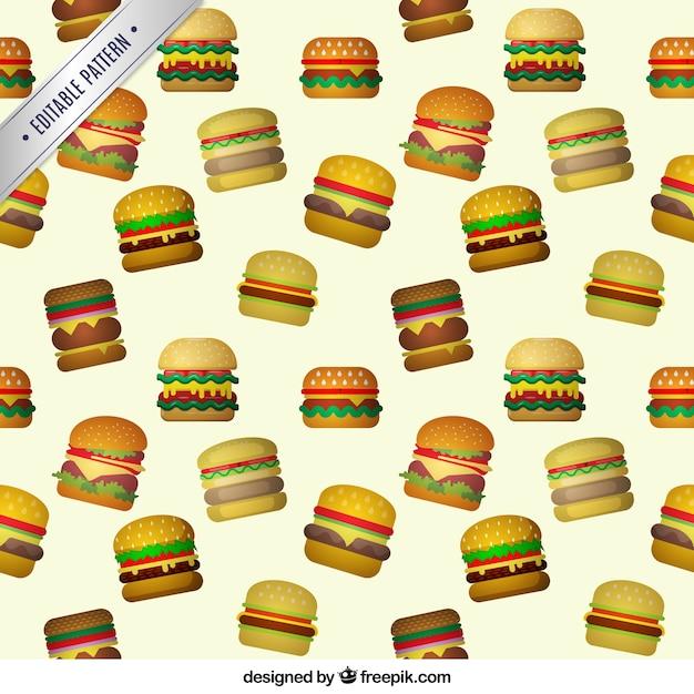 Hamburger modello Vettore gratuito