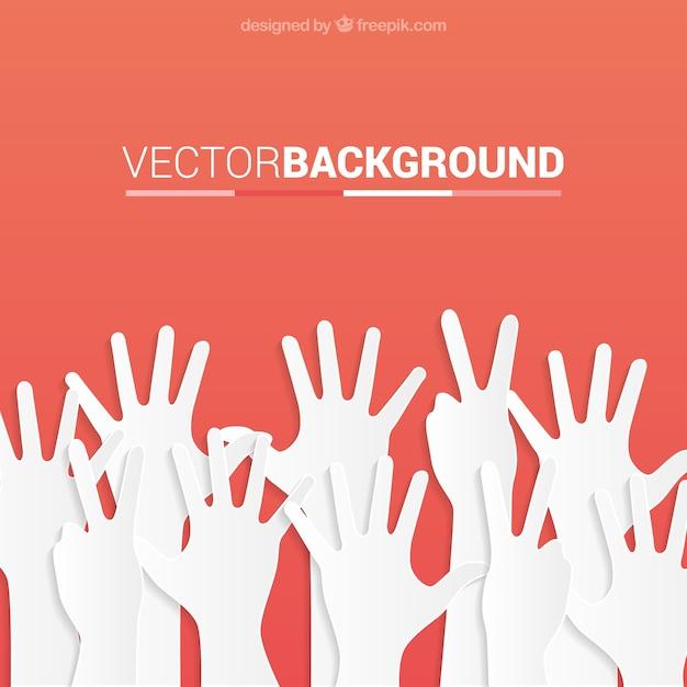 Hands up sfondo Vettore gratuito