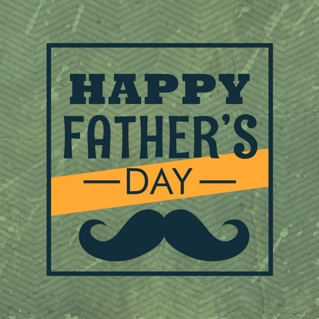 Happy day padri con i baffi Vettore gratuito