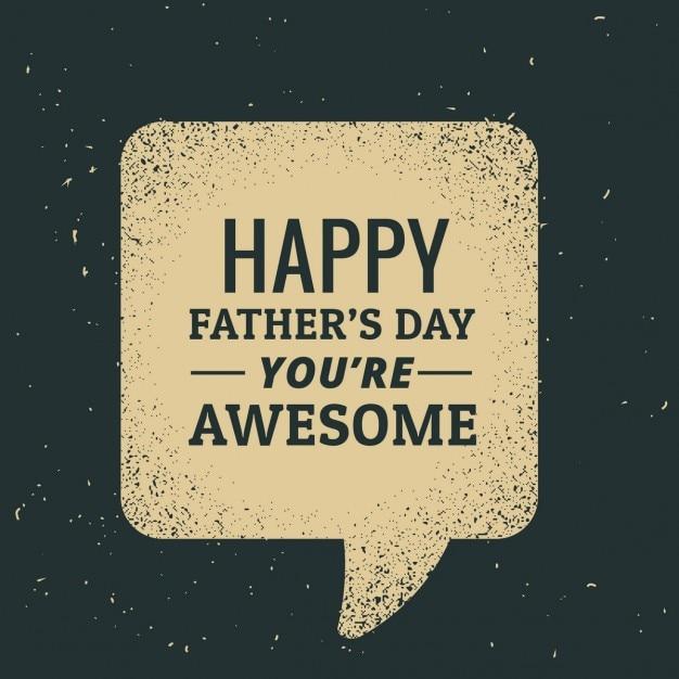 Happy day padri testo scritto in chat bolla Vettore gratuito