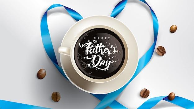 Happy father's day design con divertente concetto e colori pastello Vettore Premium