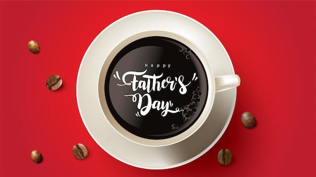 Happy father's day design con divertente concetto Vettore Premium