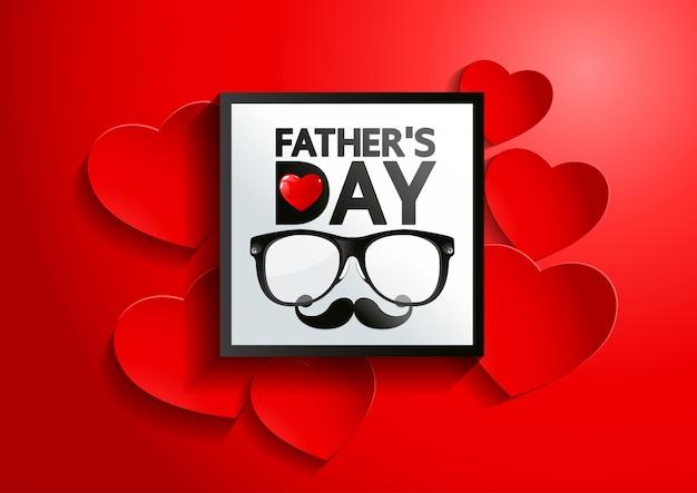 Happy fatherãƒâ,â ™ s day background Vettore Premium