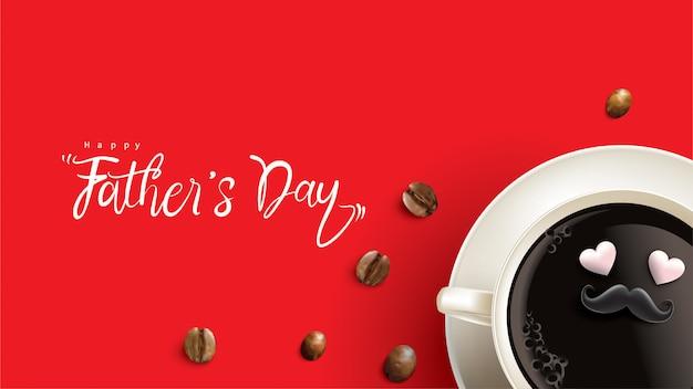 Happy fathers day design con divertente concetto Vettore Premium