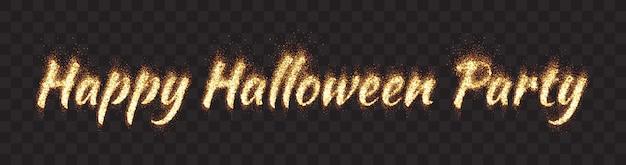 Happy halloween party banner Vettore Premium