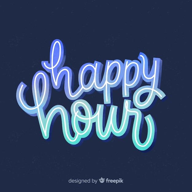 Happy hour scritte sulla lavagna Vettore gratuito